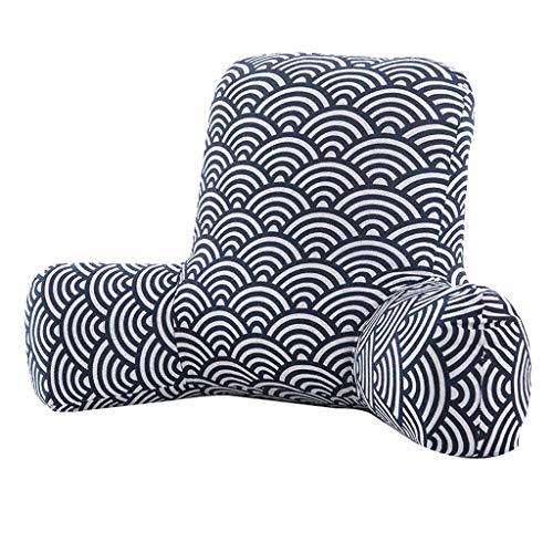 XXT Waist Pad Office Sedentary Memory Cotton Beautiful Hip Pad Waist Pad Office Waist Cushion (Color : A, Size : W65cm)