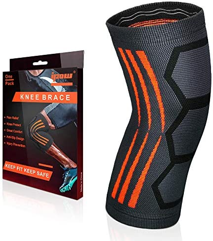 IPOW Knee Brace Knee Compression Sleeve Support Band for Sports Running Basketball Weightlifting product image