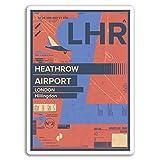 2 x 10 cm Aeropuerto Heathrow pegatinas de vinilo - Londres Inglaterra del viaje del # 17431 (10 cm de altura)