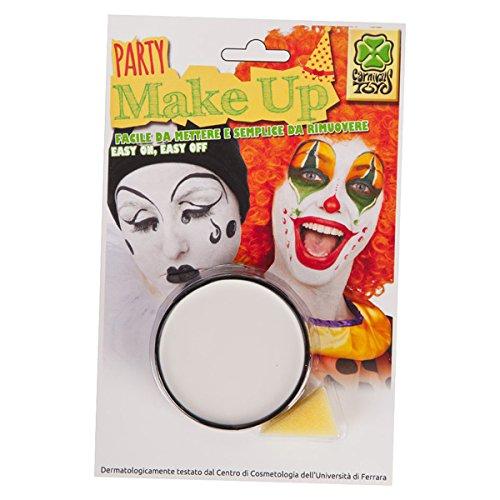 Maquillage Blanc 10 ml - Lavable à l'eau - Deguisement Halloween - 596