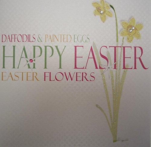 WHITE COTTON CARDS - Biglietto di auguri di Pasqua, motivo: narcisi