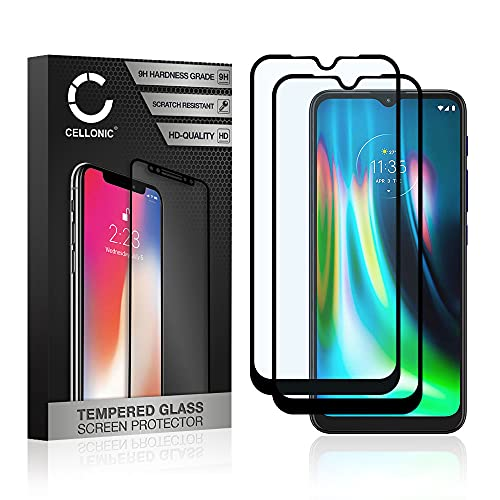 CELLONIC 2X Cristal Protector de la Pantalla Compatible con Motorola Moto G9...