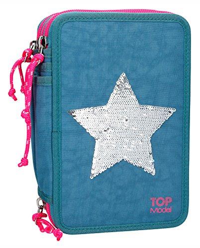 Depesche 8906 - Federtasche 3 fach, TOPModel Stern, blau