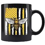 Amerikanische Flagge Waben Honigbiene Imkerei Imker Keramik Kaffeetasse Teetasse