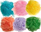 BEAUTRISTRO Round Bath Sponge Loofah for Women and Men (Random Colour) Set of 6