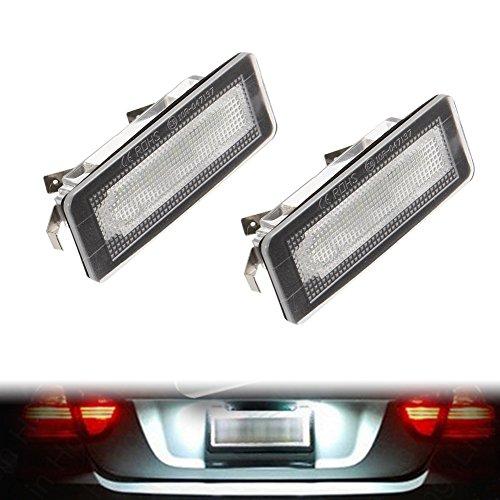 Alftek Lot de 2 lampes LED pour plaque d'immatriculation de voiture Benz Smart Fortwo W450 451 W451 W453 217