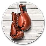 Impresionantes pegatinas de vinilo (juego de 2) 7,5 cm – Guantes de boxeo retro deportes divertidos calcomanías para portátiles, tabletas, equipaje, libros de chatarra, neveras, regalo genial #3132