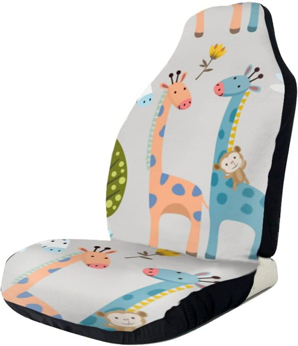 KSDRJWQ Cartoon trend rank Giraffe 2021 new Zebra and Covers Forest Seat Car Monkey