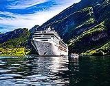 wwqtdf Barco Paisaje DIY Jigsaw Puzzle, Crucero Crucero Crucero en Geiranger Fjord Norway 6000 Piezas Rompecabezas de Madera Los Mejores Juegos Familiares de descompresión para Adultos 180x106cm