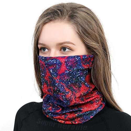 carol -1 Multifunktionstuch Halstuch Kopftuch Bandanas Gesicht Nahtlose Kopfbedeckung Stirnband Kopfwickel Sturmhaube für Staub Wind Sonnenschutz