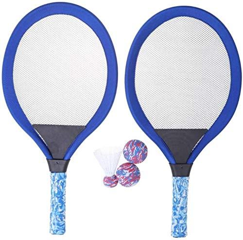 HLD Tennisbälle Spielzeug-Geschenk for Jungen Mädchen Badminton Tennisschläger-Set mit Kugel for Kinder Luminous Schläger, weiche Badminton mit Federball Bälle Jungen und Mädchen Strand Außen