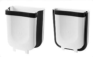 LuoCoCo Poubelle de Cuisine Pliable, Pratique Poubelle Murale Gagner de l'espace pour Portes de Placards/sous évier, Voitu...