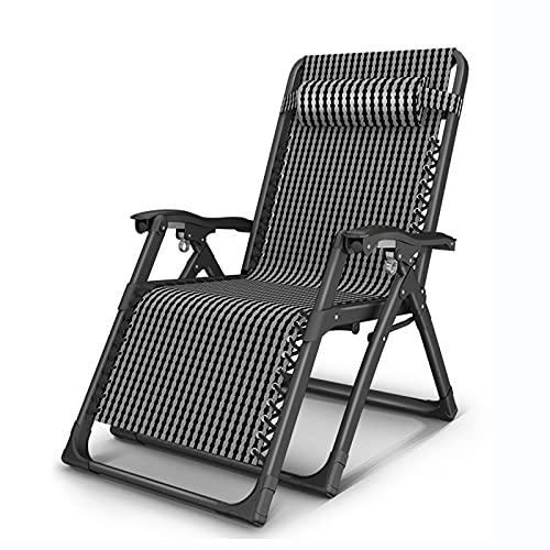 Oikupe Zero Gravity Patio Chaiselongues Home Adult Elderly Lounge Chair Siesta Chair Fauler Freizeitstuhl im Freien Sonnenliegen Klappbare tragbare Gartenstühle,A