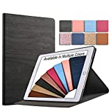 DuraSafe Cases For iPad 4 / 3 / 2 - 9.7' A1458 A1459 A1460 A1403 A1416 A1430 A1395 A1396 A1397 Tree Texture Folio Smart Cover with Protective Sleek & Classic Design - Black