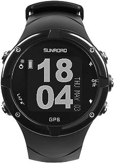 Gyswshh 50m Waterproof Digital Bluetooth Triathlon Step Count Compass Level Gauge Watch Black