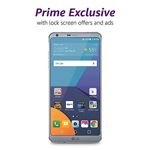 LG G6-32 GB - Unlocked (AT&T T-Mobile Verizon) - Platinum - Prime Exclusive - with Lockscreen Offers and Ads
