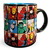 Silver Buffalo Marvel Comics Grid Jumbo, 20-ounces Ceramic Mug, Multicolor