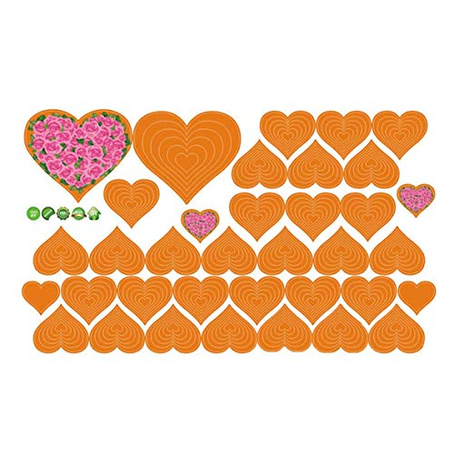 dyudyrujdtry buitengewone diverse harten Stickers Slaapkamer Woonkamer muur Art Raam Verwijderbare Diy Muurstickers Kids Decals Faddish