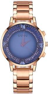Women Watch 5 Types Female Quartz Analog Watch Large Dial Round Wristwatch with Alloy Strap