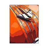 zgmtj NEUHEIT Retro Metall Auto Poster Vintage Wandkunst Malerei Moderne Abstrakte Dekoration Wohnzimmer Drucke Flur Bilder
