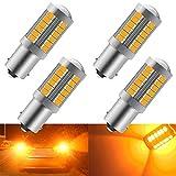 KaiDengZhe Ambre 1156 BA15S P21W 5630 33SMD Ampoules LED de Voiture 900LM Super Bright Feu de Clignotants Avant et Arrière Clignotants Ampoules 12-30V 3.6W(4 pièces)