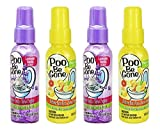 Treasue Isle Set of 4 Stinky Bowl Spray 1.85oz - Before You Go Toilet Bathroom Deodorizer - Features Fresh Citrus Scent and Lavender Scent!