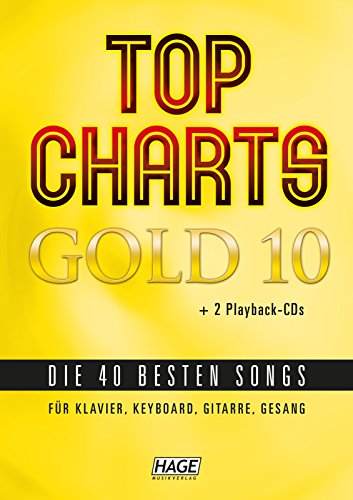 Edition Hage Top Charts Gold - Band 10 - Songbook met 2 CD's