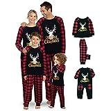 Juego De Pijamas De Navidad, Pijamas De Familia De Renos De Navidad, 2 Piezas De Manga Larga Y Pantalones para Niños Y Niñas. (Dad/M)