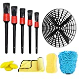 Autocare 14 Pcs Car Washing Cleanning Tools Kit for Car Care with 5 Different Sizes Auto Detail Brush,5 Wax Applicator Pads,1 Washing Bucket Bracket,1 Microfiber Towel,1 Wash Mitt and 1 Sponges