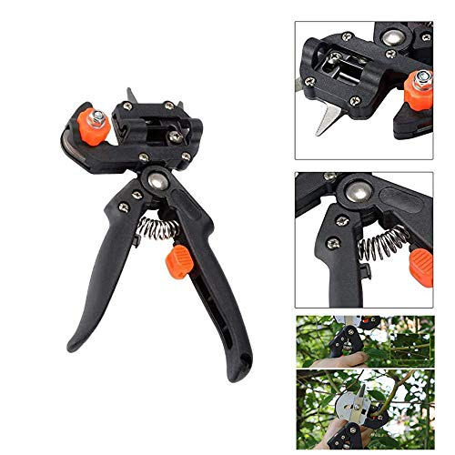 DYG 2-In-1 Grafting Tools Pruner Kit, Pruning Shears Garden Secateurs Trimming Shaping Cutter Tool, Perfect for Fruit Tree Grafting, Including Grafting Tools & Replacement Blades