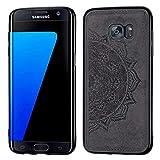 LUSHENG Funda para Samsung Galaxy S7 Edge,TPU PC Función Adsorción Imán Invisible Funda Compatible con Samsung Galaxy S7 Edge - Negro