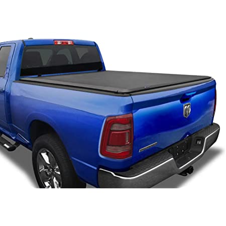 """Tyger Auto T1 Soft Roll Up Truck Bed Tonneau Cover for 2019-2021 Ram 1500 New Body Style   5'7"""" Bed (67"""")   Not for Classic   Does Not Fit with Multi-Function (Split) Tailgate or RamBox   TG-BC1D9046"""