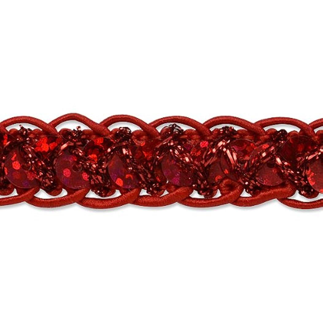 Expo International Sequin Cord Braid Trim, 20-Yard, Red