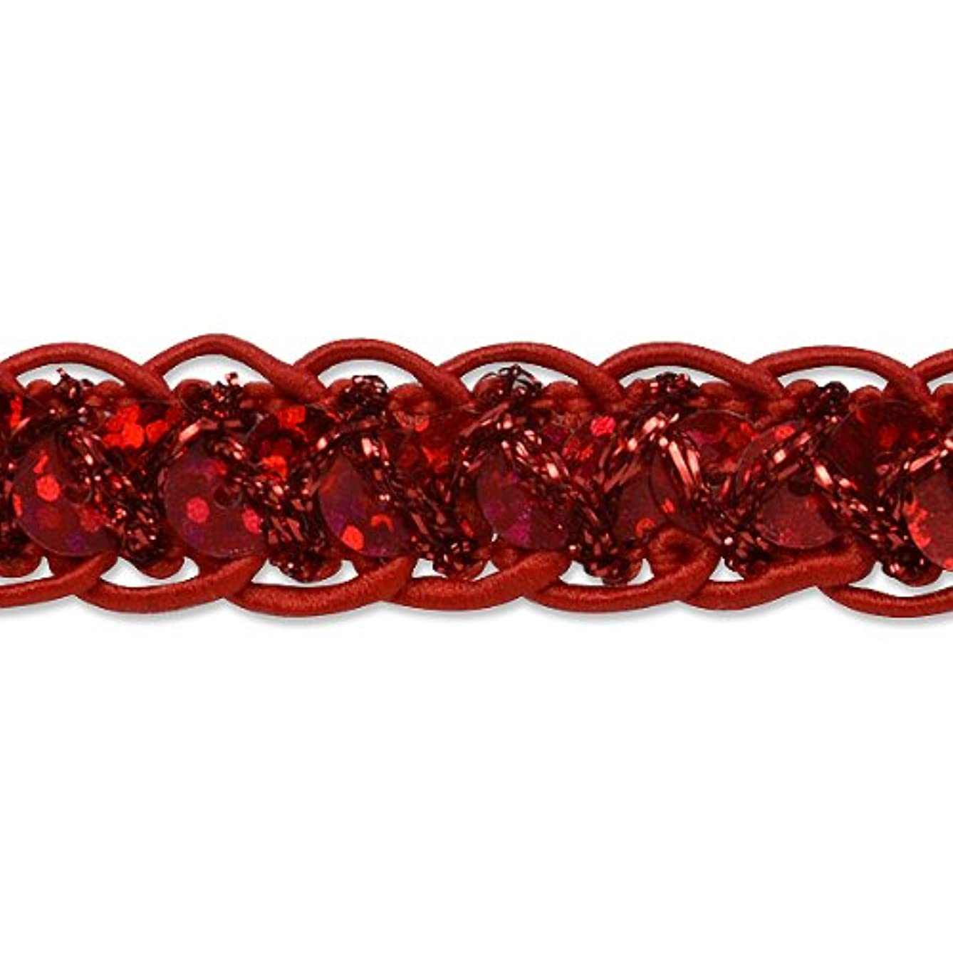 Expo International Sequin Cord Braid Trim, 20-Yard, Red
