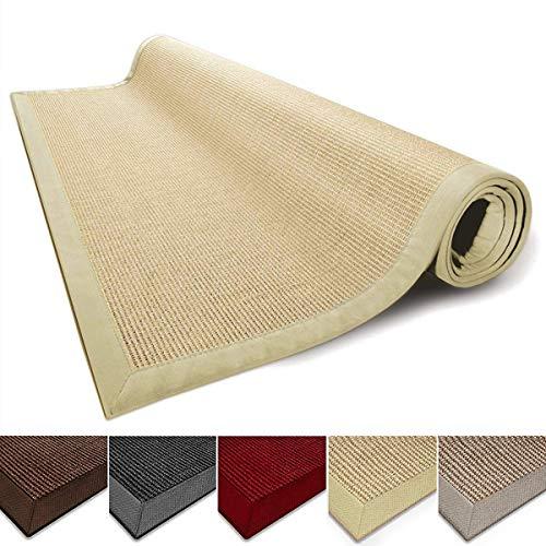 casa pura Sisal Rug Runner - 100% Natural Fiber Area Rug | Non-Skid Rustic Entryway Rug, Living Room Carpet or Kitchen Rugs and Sizes | Natural - 2.5' x 10' 10' Rug No Fringe