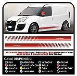 GRAFIC Autocollants pour Van Autocollants pour Van Graphiques Stickers Autocollants Stripes Autocollants Van Graphiques Style Cargo et Autres Van-Kits universels (Rouge)