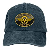 Custom Kawasaki Vulcan Spain Motorcycles Club Logo Fashion Hats for Man Black