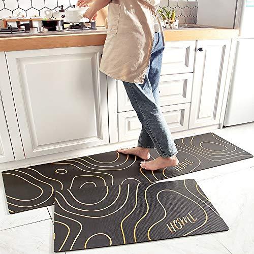 HLXX Alfombras Modernas para Cocina, alfombras para el Suelo del área del sofá del hogar para la Entrada de la Sala de Estar, Felpudo Lavable Antideslizante A4 40x60cm