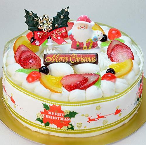 クリスマスケーキ リース 生クリーム 5号 ホール 15cm フルーツケーキ