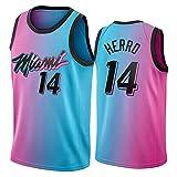 Tyler Herro Jersey para Hombre, Miami Heat # 14 Basketball Jersey 2021 New City Edition Juvenil Swing Swing Camiseta Camiseta sin Mangas (S-XXL) M