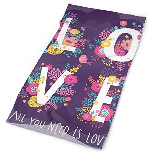 Dingl Alles wat je nodig hebt Is Liefde Concept Card Gepersonaliseerde Aanpassing Outdoor Hoofdband Elastische Naadloze Bandana Sjaal UV Weerstand Sport Hoofddeksels En Nek Gaiter