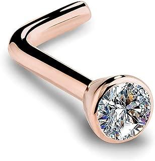 diamond encrusted nose ring