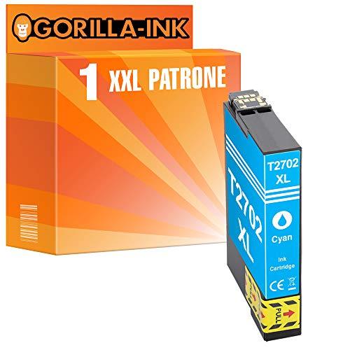 Gorilla-Ink 1 Cartuccia d'inchiostro XXL compatibile con Epson T2702 Cyan |Adatto a Epson WorkForce WF-3620 DWF WF-3620 WF WF-3640 DTWF WF-7110 DTW WF-7210 DTW