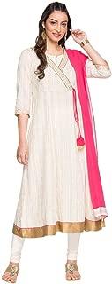 Aurelia Women's Cotton Anarkali Salwar Suit Set