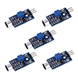 Anmbest 5PCS RED Microphone Sensor AVR PIC High Sensitivity Sound Detection Module LM393 Dual Differential Comparators Output for Arduino
