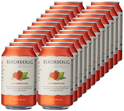 Rekorderlig Premium Strawberry and Lime Cider 24 x 330 ml Cans