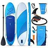 Vanku Tabla Paddle Surf Hinchable con Bomba Eléctrica, Sup Paddle Remo Ajustable, Tabla Stand Up Paddle Board con Accesorios Completos
