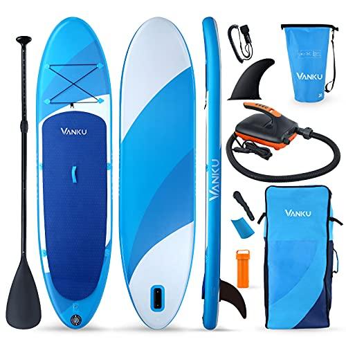 Vanku SUP hinchable con bomba eléctrica, juego de tabla de surf de...