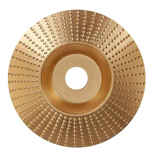 ZXY-NAN Woodworking kit Golden Wood Grinding Wheel Rotary Disc Sanding Wood Carving Abrasive Disc 100x16mm durable Cutting Tools Industrial Drill Bits