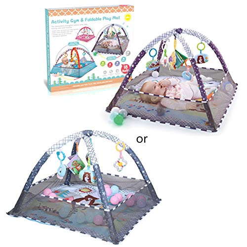 TeemorShop Tapete infantil para bebês, tapete infantil para academia, academia, atividade, cerca, brinquedos